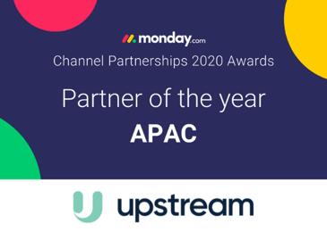 monday.com partner of the year upstream image